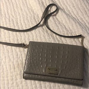Kate Spade grey reptile Leather shoulder or clutch